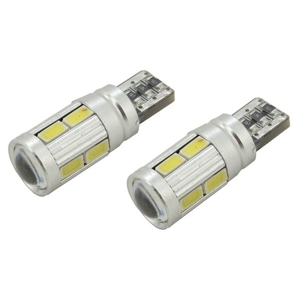 Led autožárovka 10 SMD LED 3chips 12V T10 CAN-BUS ready bílá 2ks
