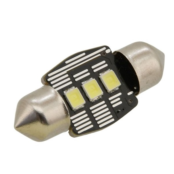 Led autožárovka 3 LED SMD 12V suf.11X32 SV8.5 NEW-CAN-BUS bílá 2ks