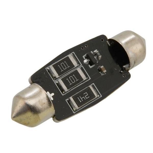 Led autožárovka 3 LED SMD 12V suf.11X38 SV8.5 NEW-CAN-BUS bílá 2ks