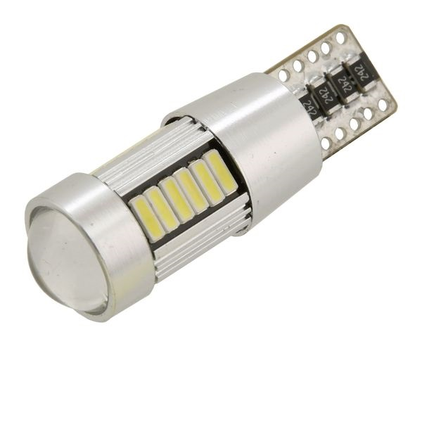 Led autožárovka 27 LED 12V T10 NEW-CAN-BUS bílá 2ks