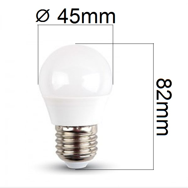 LED žárovka E27 4W 320lm G45 studená, ekvivalent 30W