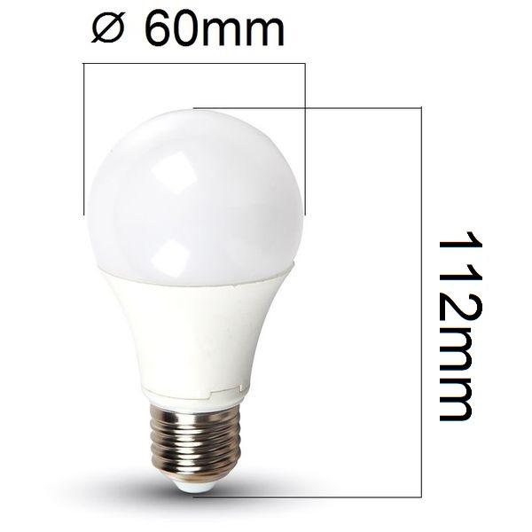 LED žárovka E27 9W 806lm 3v1,volba teploty světla, ekvivalent 60W