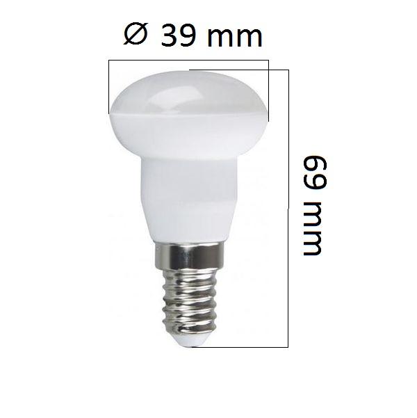 LED žárovka E14 3W 250lm R39 teplá,  ekvivalent 25W
