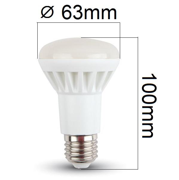 LED žárovka E27 8W 500lm R63 denní, ekvivalent 60W