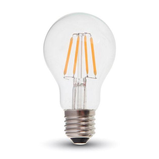 Retro LED žárovka E27 6W 660lm teplá, filament, ekvivalent 55W