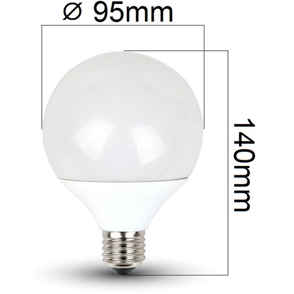 LED žárovka E27 14W 1380lm G95 teplá, ekvivalent 90W