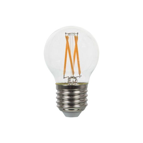 Retro LED žárovka E27 4W 400lm G45 teplá, filament , ekvivalent 40W