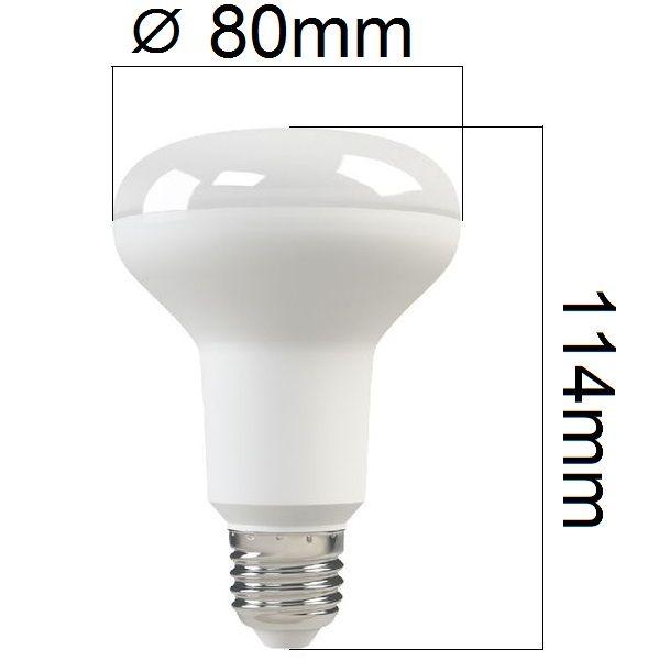 LED žárovka E27 10W 800lm R80 teplá, ekvivalent 75W - DOPRODEJ, POSLEDNÍ KUSY!