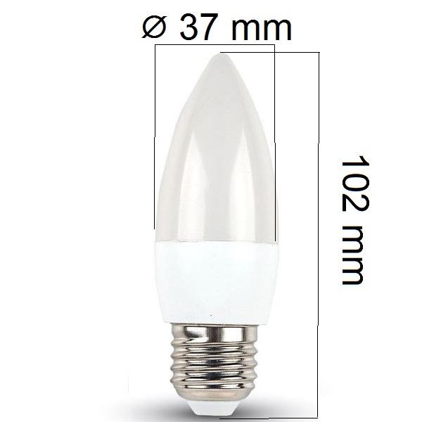 LED žárovka E27 5,5W 470lm teplá, ekvivalent 40W