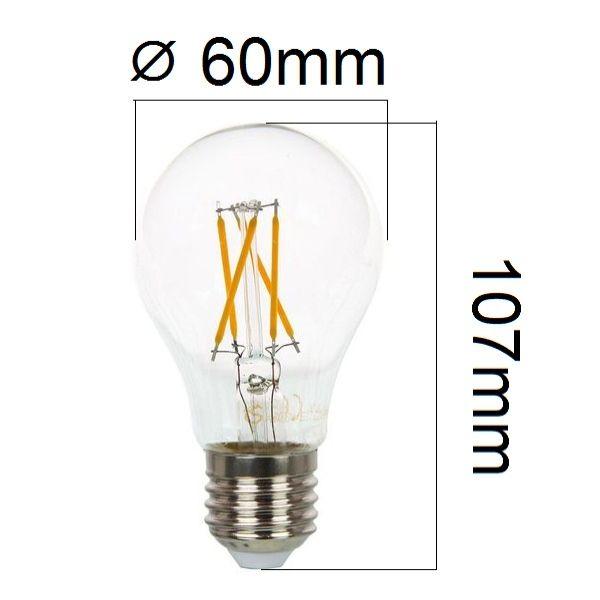 Stmívatelná retro LED žárovka E27 4W 350lm teplá, filament, ekvivalent 40W