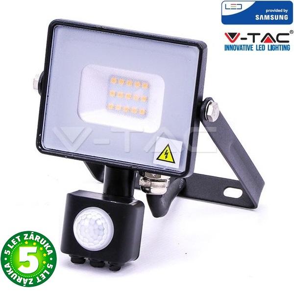 Prémiový ultratenký LED reflektor 10W 800lm s čidlem SAMSUNG čipy denní