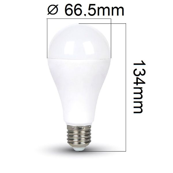 LED žárovka E27 15W 1500lm teplá, ekvivalent 100W