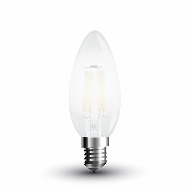LED žárovka  E14 4W 400lm denní, filament, ekvivalent  40W
