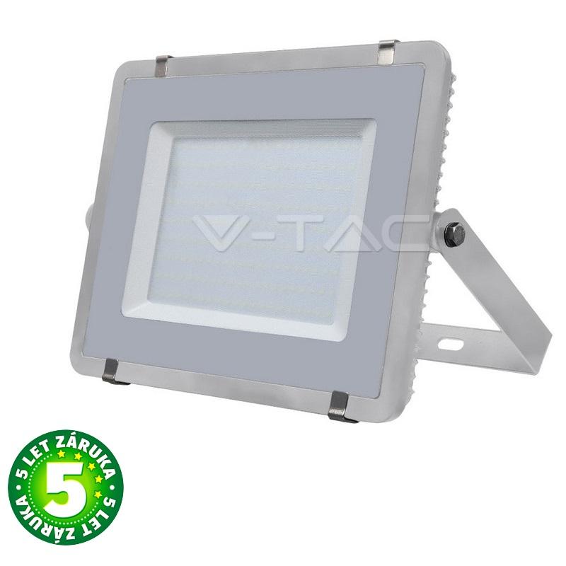 Prémiový ultratenký LED reflektor 200W 16000lm SAMSUNG čipy šedý, denní