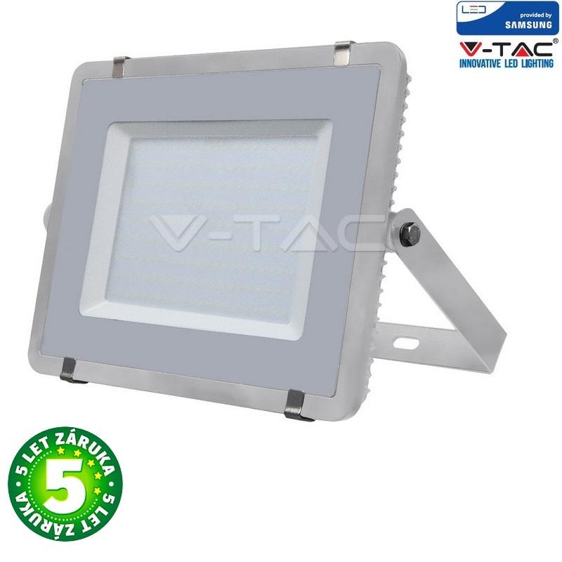 Prémiový ultratenký LED reflektor 200W 16000lm SAMSUNG čipy šedý, studená