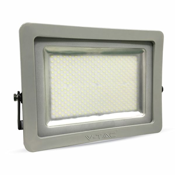 Ultratenký LED reflektor šedý 300W 24000lm studený