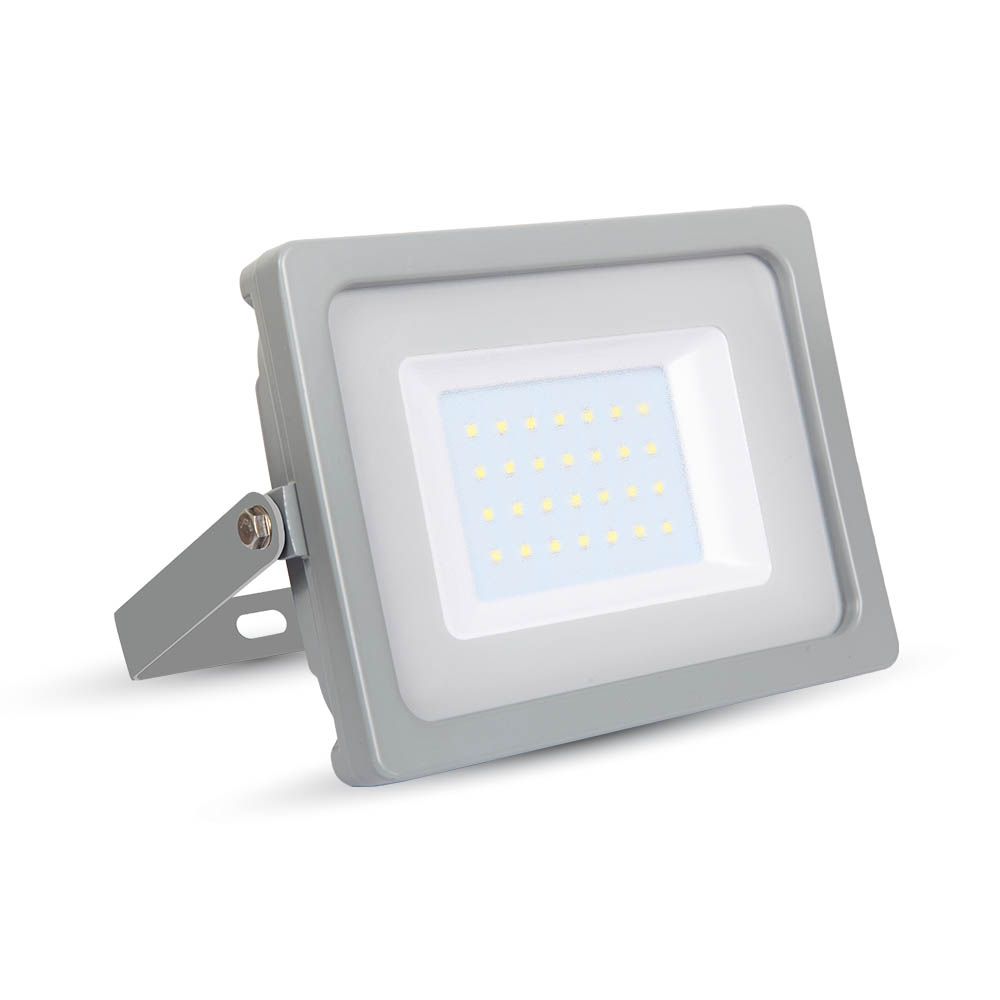 Ultratenký LED reflektor šedý 30W 2550lm, denní