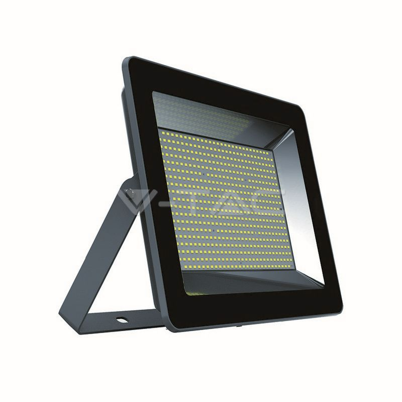 Ultratenký LED reflektor černý 200W 17000lm, studená