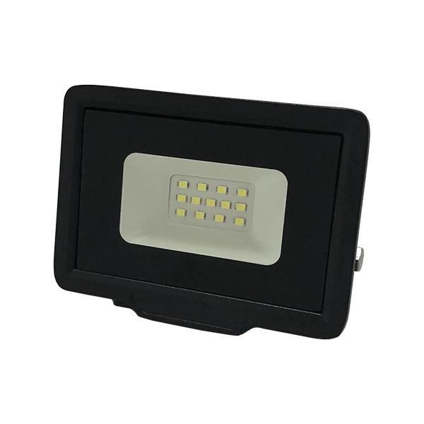 Ultratenký LED reflektor černý  10W 800lm teplá