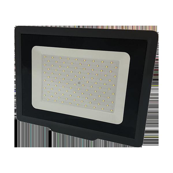 Ultratenký LED reflektor  černý   100W 8000lm, denní