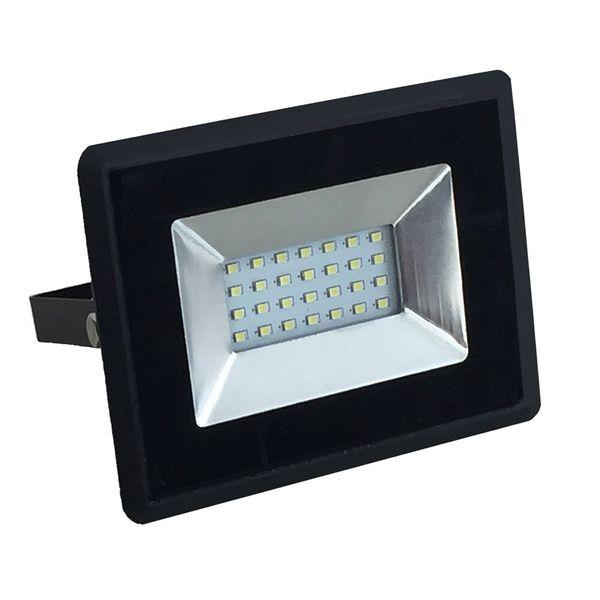 Ultratenký LED reflektor černý  20W 1700lm denní