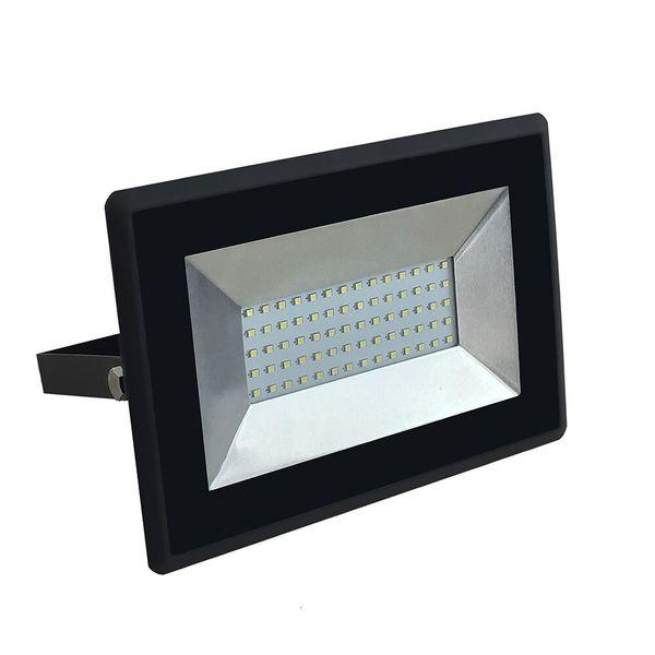 Ultratenký LED  reflektor černý 50W 4250lm denní