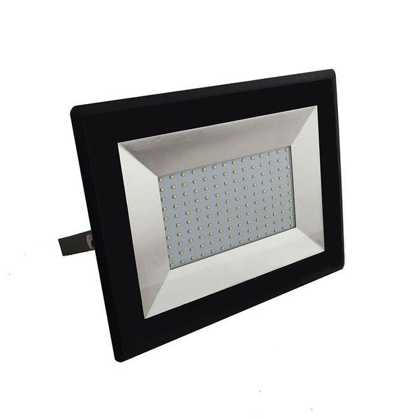 Ultratenký LED  reflektor černý 100W 8500lm denní
