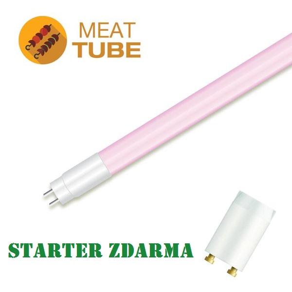 LED zářivka T8 18W 1530lm 120cm pro osvětlení masa a masných výrobků, STARTÉR ZDARMA