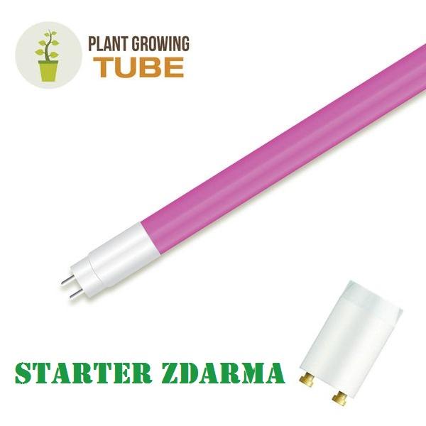 LED zářivka T8 18W 860lm 120cm pro pěstování rostlin, STARTÉR ZDARMA