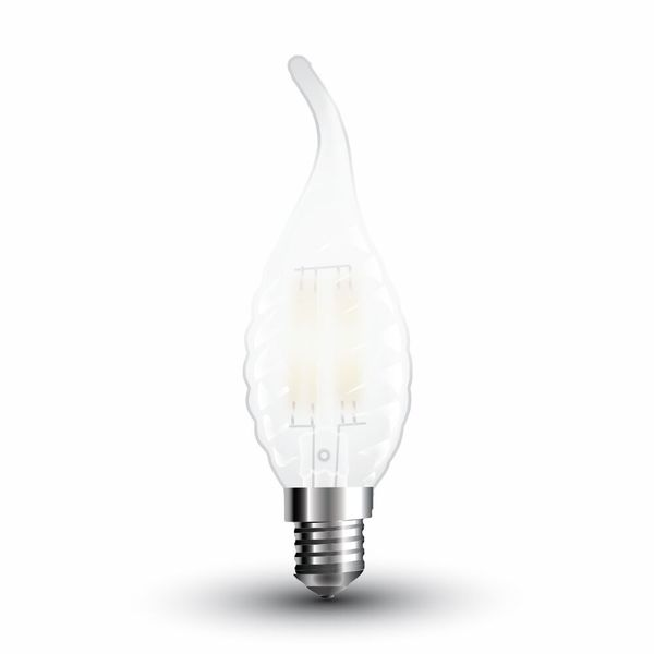 LED žárovka E14   4W 400lm teplá, filament, ekvivalent 40W