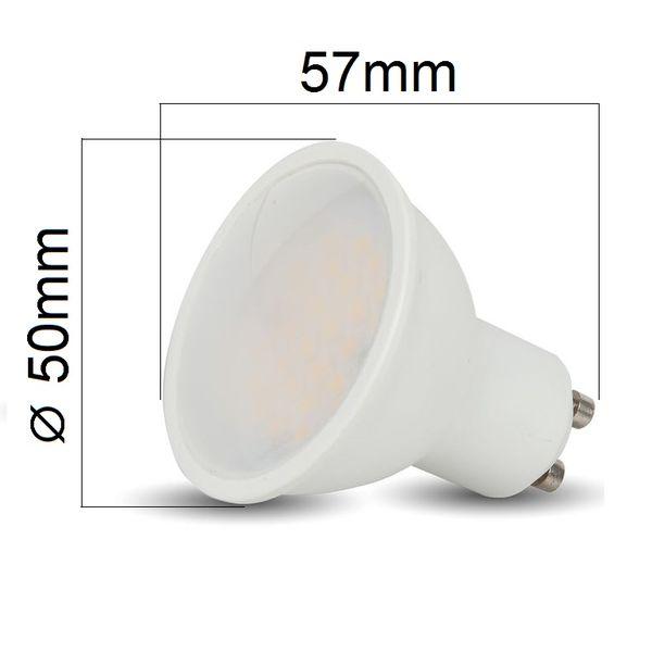 LED žárovka GU10 3W 210lm teplá, ekvivalent 25W