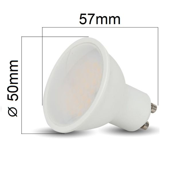 LED žárovka GU10 3W 210lm studená, ekvivalent 25W
