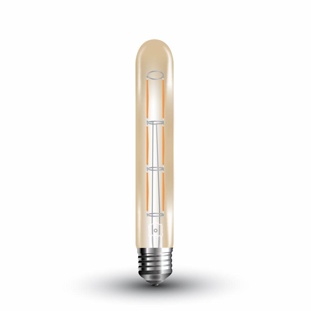 Retro LED žárovka E27 6W 600lm teplá, filament, ekvivalent 50W