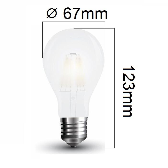 Retro LED žárovka E27 9W 1100lm teplá, filament, ekvivalent 75W