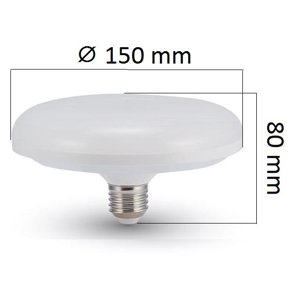 LED žárovka E27 UFO 16W 1350lm, studená, ekvivalent 90W