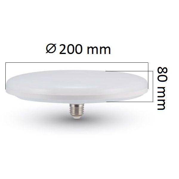LED žárovka E27 UFO 24W 2610lm, studená, ekvivalent 160W