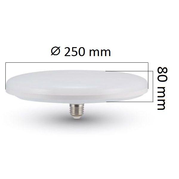 LED žárovka E27 UFO 36W 3240lm teplá, ekvivalent 190W