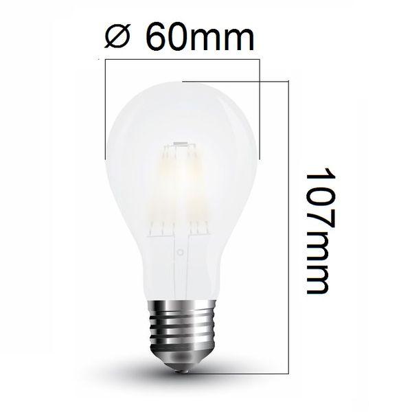 Retro LED žárovka E27 7W 840lm teplá, filament, ekvivalent 60W