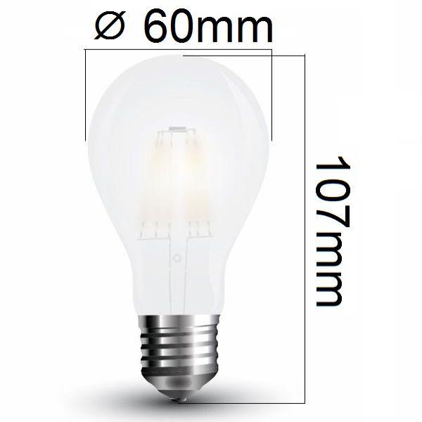 LED žárovka E27 5W 600lm denní, filament, ekvivalent 50W