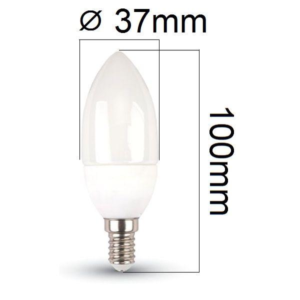 LED žárovka E14 3W 250lm, denní, ekvivalent 25W