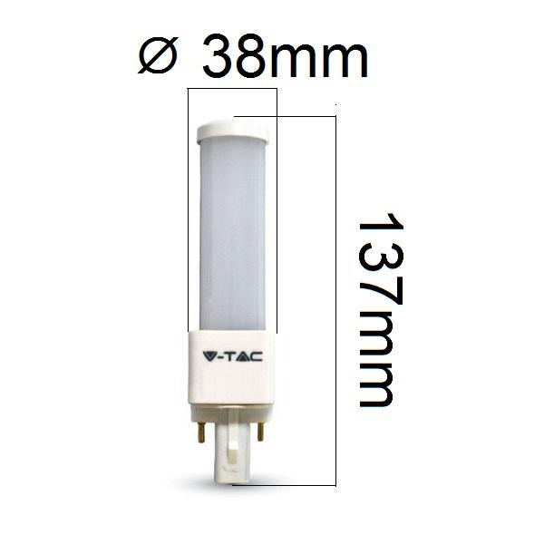 LED žárovka G24 6W 480lm denní, ekvivalent 45W