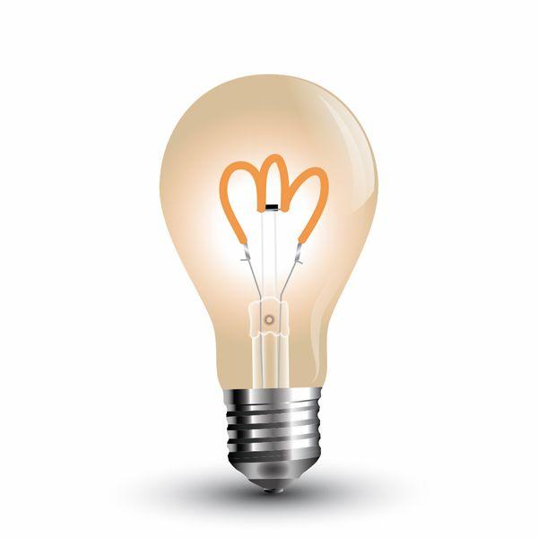 Retro LED žárovka E27 3W 150lm teplá, filament, ekvivalent 20W