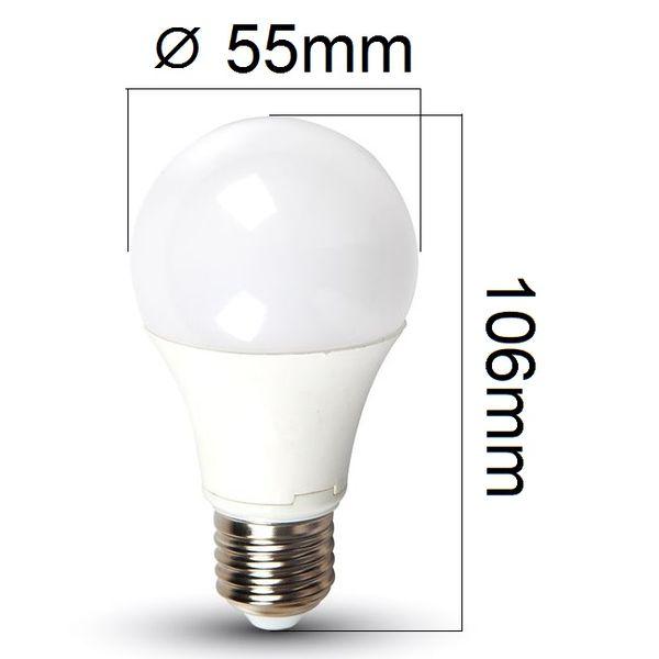 LED žárovka E27 5W 420lm teplá, ekvivalent 35W