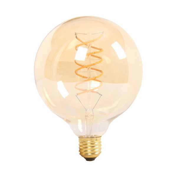 Retro LED žárovka E27 6W 480lm G125 teplá, filament, ekvivalent 50W