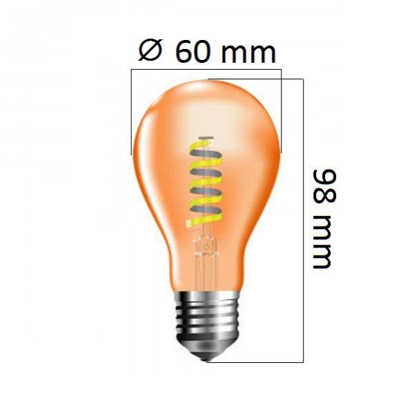 Retro LED žárovka E27 4W 360lm extra teplá, filament,  ekvivalent 40W