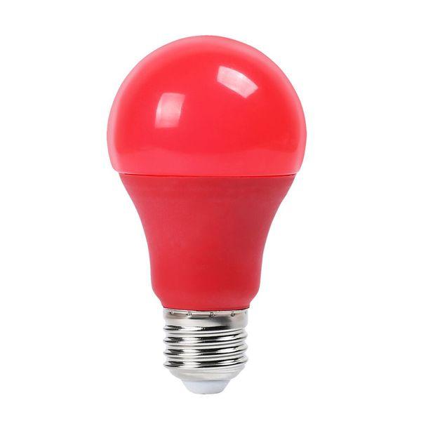 Barevná LED žárovka E27 9W 270lm červená, ekvivalent 30W