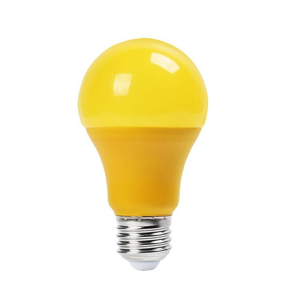 Barevná LED žárovka E27 9W 570lm žlutá, ekvivalent 50W