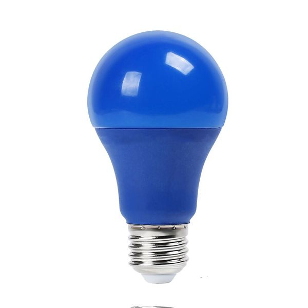 Barevná LED žárovka E27 9W 120lm modrá, ekvivalent 15W
