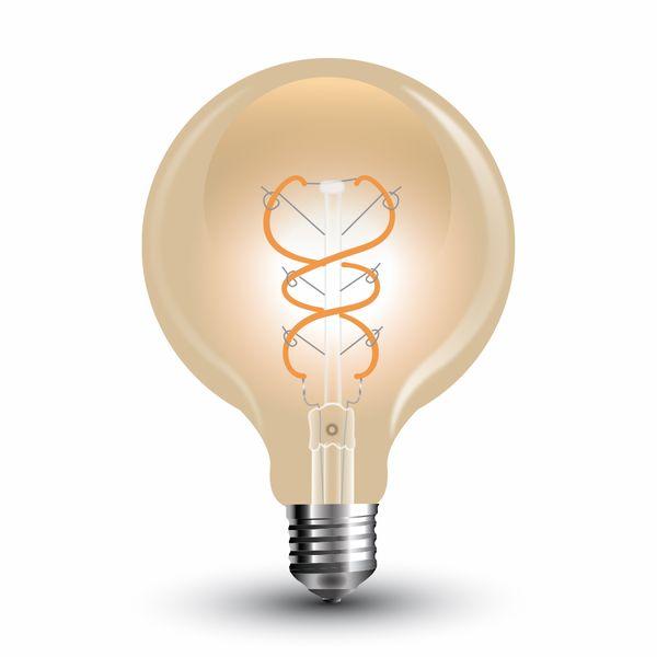 Stmívatelná retro LED žárovka E27 5W 300lm G125 extra teplá, filament, ekvivalent 30W