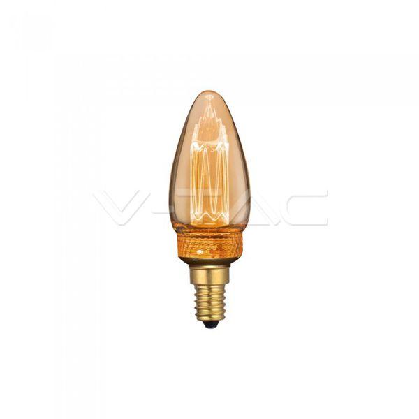 Retro LED žárovka  E14 2W 65lm extra teplá, filament, ekvivalent 9W